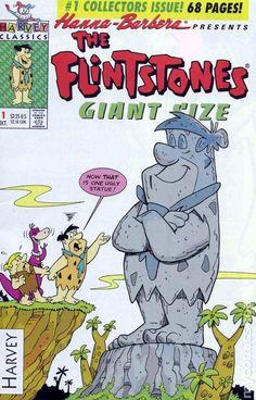 The Flintstones - Giant Size Today Cartoon, Cartoon Tv, Vintage Comic Books, Vintage Comics, Vintage Toys, Classic Comics, Classic Cartoons, Comic Book Characters, Comic Character