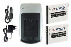 2 Akkus Li-70b + Ladegerät für Olympus D-700 D-705.. FE-4020.. VG-110 VG-120 + weitere, siehe Liste - http://kameras-kaufen.de/mtb-more-energy/2-akkus-li-70b-ladegeraet-fuer-olympus-d-700-d-705-fe
