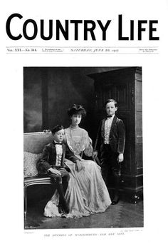 Country Life (8 Jun 1907) Consuelo, Duchess of Marlborough and her sons Lord Ivor Charles Spencer-Churchill and John Spencer-Churchill, Marquess of Blandford.