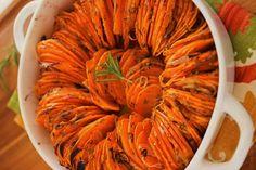 Ropogós, rozmaringos batáta Quiche Muffins, Salad Cream, Sweet Potato, Salad Recipes, Good Food, Food And Drink, Potatoes, Vegetables, Cooking