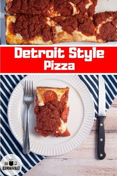 Mar 2020 - How to make your own homemade Detroit Style Pizza from scratch! This is a cheesy, tasty, classic Detroit recipe and you can make it with me. The dough is delicious and it has so much flavor Best Italian Dishes, Best Italian Recipes, Best Dishes, Main Dishes, Detroit Style Pizza Recipe, Chicago Style Pizza, Detroit Pizza, Pizza Recipes, Lunch Recipes