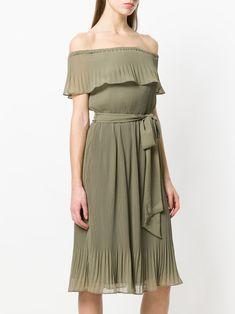 c16f48632add6 Michael Michael Kors off-the-shoulder Pleated Dress - Farfetch