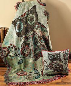 WANT!! www.wildwings.com item #4549593102:Owl Tapestry Throw/Blanket
