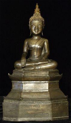 16/17thC Laos Bronze Buddha. Temples, Buddha Life, Buddha Temple, Tibetan Art, Buddha Statues, Divine Mother, Hindu Deities, Hindu Art, Buddhist Art