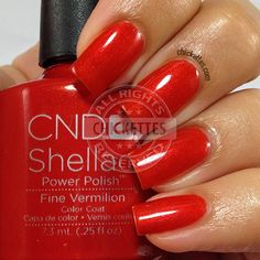 CND Shellac Modern Folklore Collection - Fine Vermillion - swatch by Chickettes.com