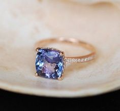 Blue Diamond Engagement Ring!!! :D SO PERTY!