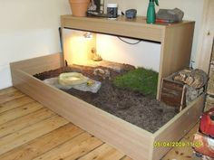 Russian Tortoise Table idea for my future Russian tortoise Tortellini - Before After DIY Tortoise House, Tortoise Habitat, Tortoise Table, Tortoise Food, Baby Tortoise, Turtle Enclosure, Reptile Enclosure, Aquariums, Tortoise Enclosure Indoor