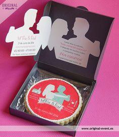 Galleta invitación boda en caja