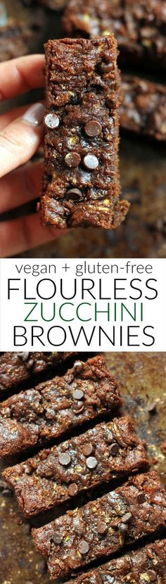 Flourless Peanut Butter Zucchini Brownies - Keto Brownies - Ideas of Keto Brownies - Ooey gooey one bowl Flourless Vegan Peanut Butter Zucchini Brownies! They're super easy and free of gluten refined sugar flour butter and oil. Healthy Vegan Dessert, Low Carb Dessert, Vegan Treats, Healthy Baking, Healthy Desserts, Homemade Desserts, Healthy Kids, Gluten Free Baking, Gluten Free Desserts