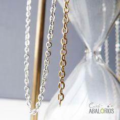 715d20576851 Cadenas por metros y piezas de bisutería para tus creaciones en nuestra  shop. De acero