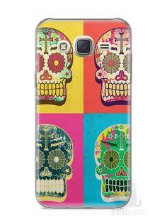 Capa Capinha Samsung J7 Caveiras Coloridas - SmartCases - Acessórios para celulares e tablets :)
