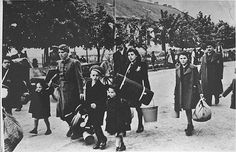 Arrival of Jews into the THeresienstadt ghetto/concentration camp