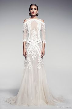 pallas couture bridal 2014 fleur blanche voelle wedding dress sleeves