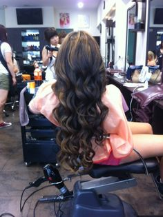 Such a pretty Blair! #blowout #brunette #curls #hair