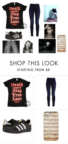 """So tonight she lies, lifted up through her own roof, dried eyes tonight, there's nothing more that she can do, and they cry tonight, a daughter that they hardly knew, and she's lost in time, another empty bottle takes a life."" by abskers ❤ liked on Polyvore featuring adidas Originals"