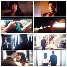 Overview of some of the screenshots in the new #FiftyShadesSecondTrailer promo #FiftyShades
