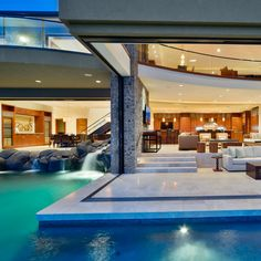 Luxurious Villa Design in Hawaii with Great Landscapes - Terrace Villa Design, Conception Villa, Design Exterior, Casas Containers, Hawaii Homes, My Dream Home, Dream Homes, Dream Big, Great Rooms