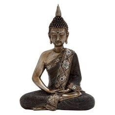 DecMode Sitting Buddha Sculpture - 44247