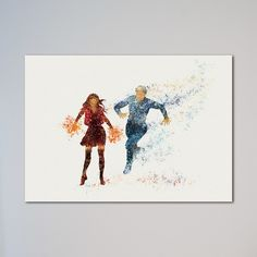 """Quicksilver and Scarlet Witch Print Avengers. This is a printed art poster. Available Sizes by clicking Select Options - Select Size: from 5'' x 7'' up to 20"""" x 30"""". If you choose Canvas Upgrade option, then we will leave about 2 inches white canvas on every side for mounting on a frame. Express shipping is with UPS Express Saver Service. It takes from 2 to 3 business days to Europe and from 3 to 5 business days to USA and Canada, and up to 7 business days to the rest of the world…"""
