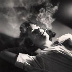 Smoke - Girl Smoking by Michael Philip Manheim, 1959 (foxesinbreeches)
