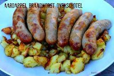 aardappel braadworst ovenschotel