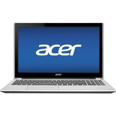 """Acer - Aspire 15.6"""" Touch-Screen Laptop - 8GB Memory - 750GB Hard Drive - Silky Silver"""