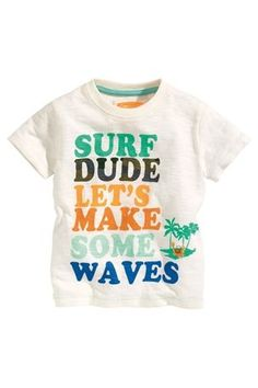 Buy White Surf Dude T-Shirt (3mths–6yrs) from the Next UK online shop