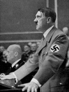 Adolf Hitler addresses the Reichstag, Berlin, Germany