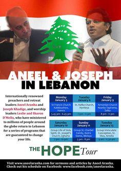 The Hope Tour - Lebanon - 05th Jan - 13th Jan 2015