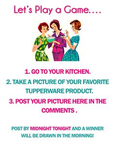 """""""Hi Friends! I just started my own Tupperware business and want to spread the word! If you're looking to order products or are considering joining Tupperware, please reach me at the following:  Looler7695@yahoo.com http://julie1969.my.tupperware.com/  Feel free to forward this on to your family and friends who are interested in Tupperware Thank you!"""