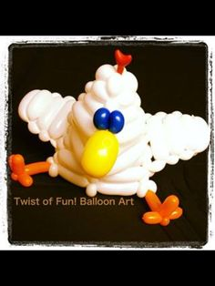 Chicken balloon hat Twist of fun! Balloon art
