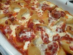 Stuffed Shells - good for winter meal!
