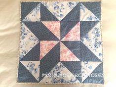 Tutorial paso a paso para hacer la Estrealla Barbara Fritchie en patchwork, con explicaciones y fotografías