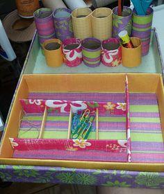 Craft supply desktop organizer