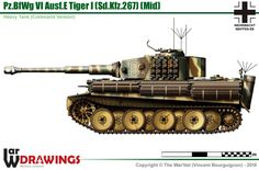 E Tiger (mid production model) Ambulance Truck, Camouflage Patterns, War Thunder, Tiger Tank, Armored Fighting Vehicle, Engin, Ww2 Tanks, Lifted Ford Trucks, Military Photos