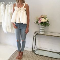 shona joy Didier ruched top in cream