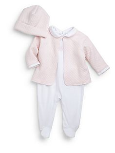 Kissy Kissy Infant's Three-Piece Take Me Home Footie, Hat & Jacket Set