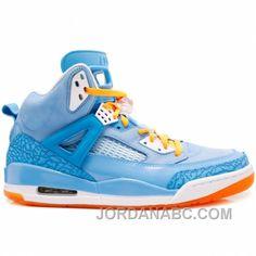 Air Jordan Spiz'ike University Blue White Italy Blue Vivid Orange  315371-415