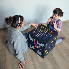 Felt Game Pouf for kids by Dam!Design