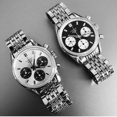 """Calibre 11 on Twitter: """"Perfect Carrera  duo by @chronomatik #vintageheuer #heuercarrera #tagheuer #calibre11… """""""