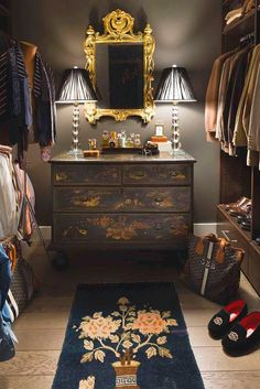Designing a dressing room can be as demanding as any room. You have to choose a color scheme, decorating style, furnishings. So let's talk about decorating a dressing room in various styles. To choose the right style for your dressing… Continue Reading → Men Closet, Walk In Closet, Closet Space, Closet Doors, Rustic Closet, Vintage Closet, Dressing Room Closet, Beautiful Closets, Dream Closets