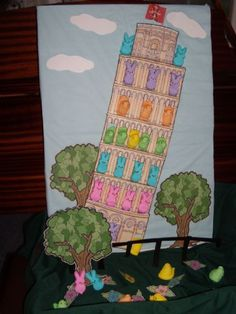 2012 Title: Leaning Tower Of Peepsa Description: Peep family is celebrating a holiday in Italy. I too enjoyed my visit to the Country.