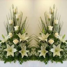 Choosing The Flower Arrangements For Church Wedding Funeral Floral Arrangements, Easter Flower Arrangements, Flower Arrangement Designs, Rose Arrangements, Altar Flowers, Church Flowers, Funeral Flowers, Deco Floral, Arte Floral