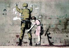 Banksy street art - Graffiti Soldier and girl Poster   Sold at Europosters