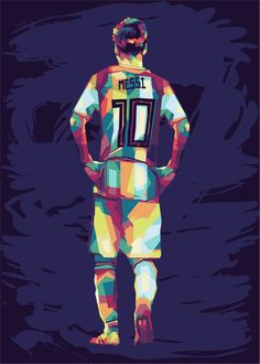 if interested in my work, can contact me at ahmadslamet.asw@gmail.com Pop Art Posters, Poster Prints, Barcelona Soccer, Fc Barcelona, Messi Poster, Messi Photos, Soccer Stadium, Pop Art Portraits, Lionel Messi