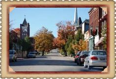Nearby Huntingburg--street filled with great little shops