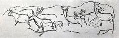 3 6. Стадо оленей. Рисунок на камне из Лимейля (Франция, департамент Дордонь).