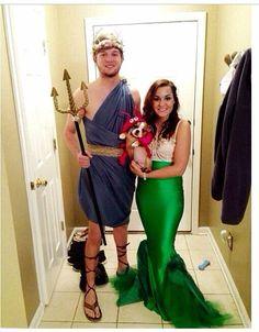 Couples Halloween costume idea  Mermaid, Poseidon, and lobster