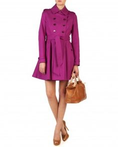 Ted Baker double-breasted trench. In fuchsia (amazing). #NeedThis