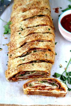 35 Minute No Wait No Rise Stromboli (AKA How to Make Rolled Pizza) | http://www.carlsbadcravings.com/35-minute-wait-rise-stromboli-aka-make-rolled-pizza/